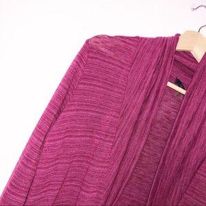 Laila Jayde Sweaters - Laila Jayde Burgundy Open Cardigan M